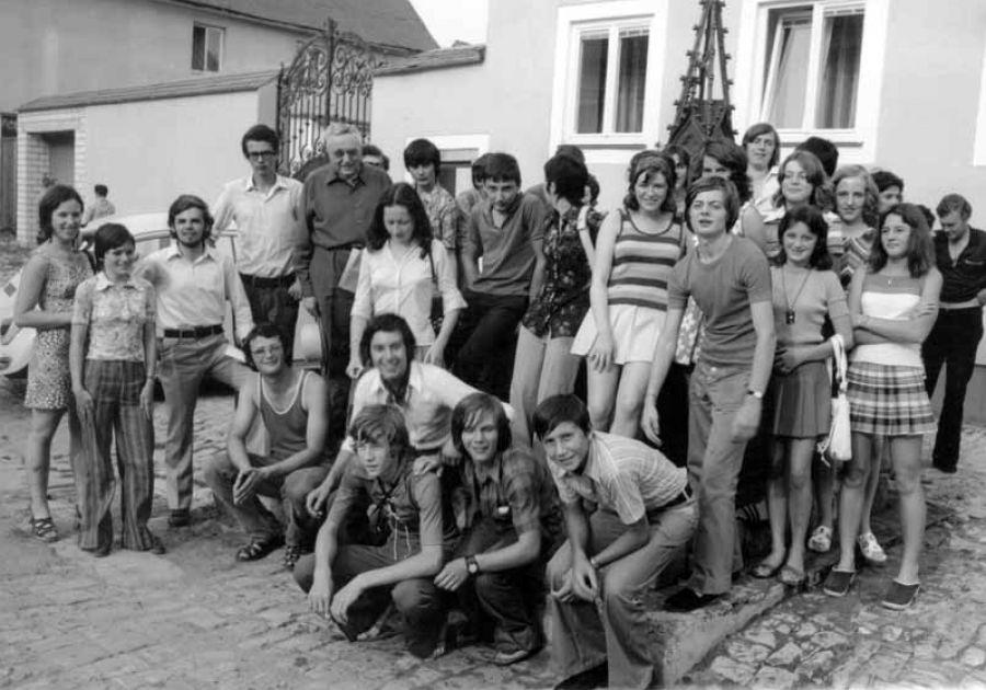 Die ersten Jugendlichen aus Savigny zu Gast in Berching August 1972