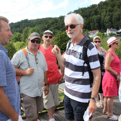 Auf der Brücke über den RMD-Kanal in Essing